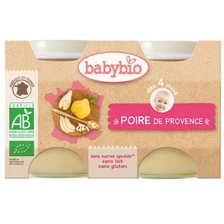 Babybio Poire de provence, dès 4 mois, 2*130g