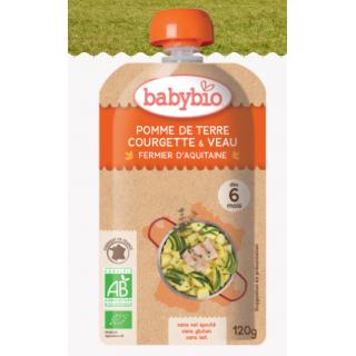 Babybio Pomme de terre, courgette et veau fermier d'Aquitaine, dès 6 mois, 120g