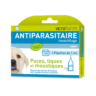 Vetoform Antiparasitaire 3 pipettes de 1 ml