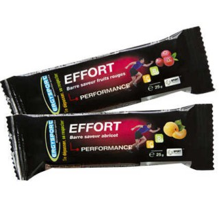 Nutergia Ergysport Effort Barre saveur fruits rouges - 25g