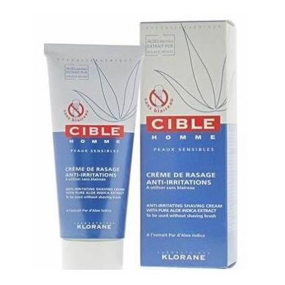 Klorane cible homme crème de rasage  anti-irritations 100 ml