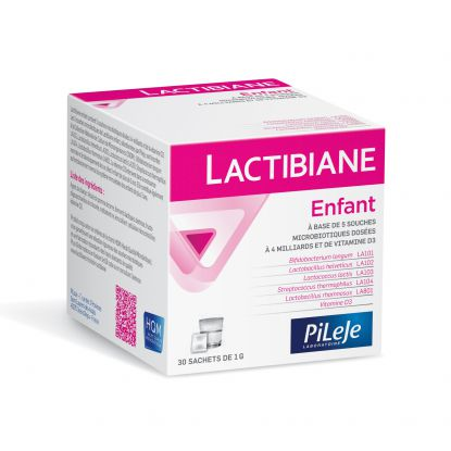 Pileje Lactibiane enfant - 30 sachets de 1g