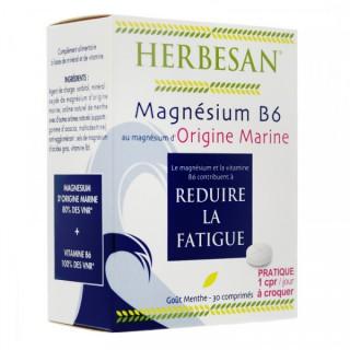 HERBESAN Magnésium B6 30 comprimés goût menthe