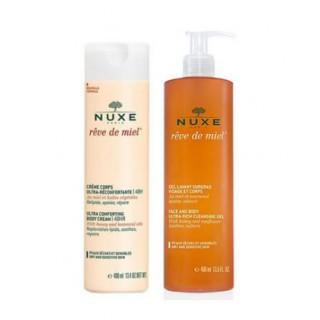 Nuxe Gel lavant surgras 400ml + crème corps rêve de miel 400ml