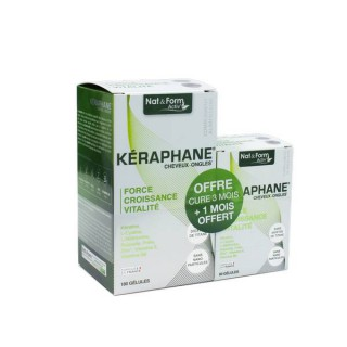 Nat & Form Kéraphane cheveux ongles cure 3 mois +1 mois Offert