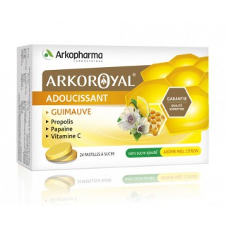 arkoroyal adoucissant 24 pastilles arôme miel citron