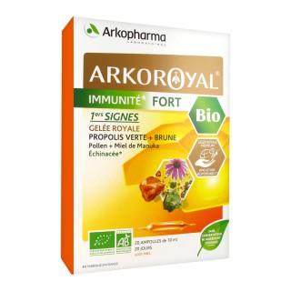 Arkoroyal Immunité fort gelée royale bio 20 ampoules