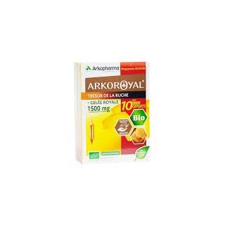 Arkoroyal gelée royale 1500 mg 20 ampoules + 10 offertes