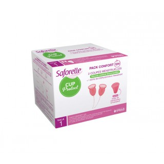 Saforelle Cup Protect taille 1 - 2 coupes menstruelles