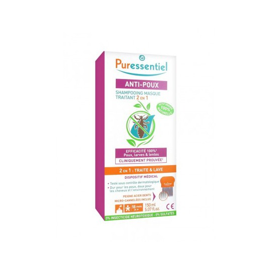 Puressentiel Anti-Poux shampooing traitant 2 en 1-150 ml