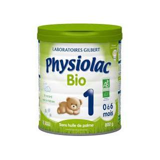 Physiolac Lait Bio age 1 900gr