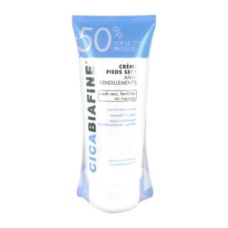 Cicabiafine Crème pieds secs anti-fendillements 2x100 ml