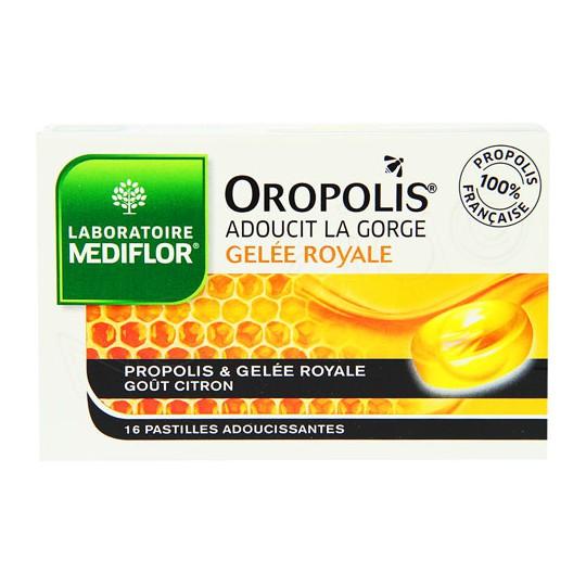 Oropolis gelée royale adoucit la gorge 16 pastilles