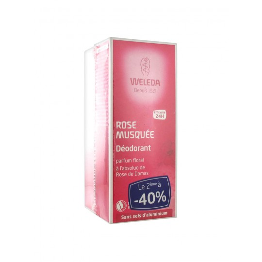 Weleda Lot de 2 Déodorants à la Rose 100ml