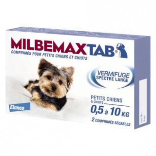 Milbemaxtab vermifuge chiots/petits chiens x2 comprimés