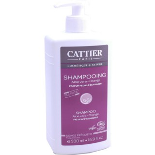 Cattier shampooing bio aloé vera-orange 500 ml