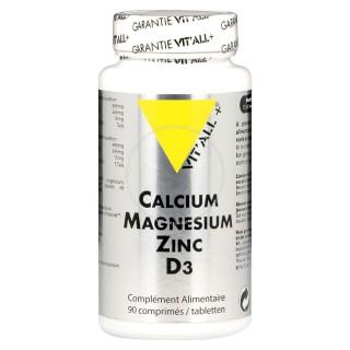 Vit'all + calcium/magnésium/zinc/D3 90 comprimés