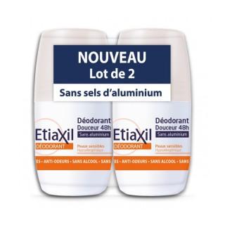 Etiaxil déodorant bille douceur peaux sensibles 2x50ml