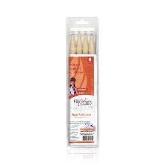 Source claire bougies auriculaire non parfumées x4