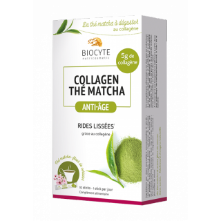 Biocyte Collagen Thé Matcha - 10 Sticks