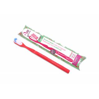 Lamazuna Brosse à dents rechargeable souple rouge framboise