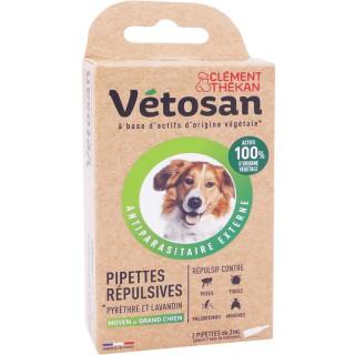 Vetosan Pipettes répulsives moyen et grand chien - 2 x 3ml