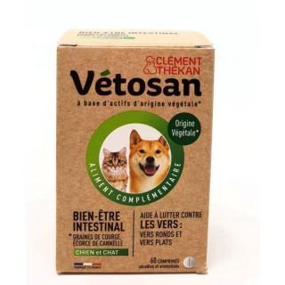 Vetosan Bien-être intestinal spécial vers chien et chat - 60 comprimés