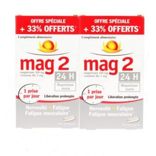 Cooper Mag 2 24h - Lot 2 X 2 mois - 45+15 comprimés