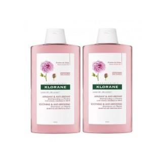 Klorane shampooing à la pivoine lot de 2 x 400 ml