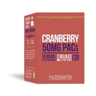 Nutrisanté Les Nutri'Sentiels Cranberry 50mg - 20 gélules