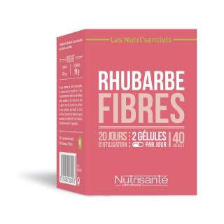 Nutrisanté Les Nutri'Sentiels Rhubarbe fibres - 40 gélules
