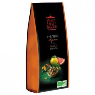 Thés de la pagode Thé vert Chun Mee aux agrumes Bio - 100g