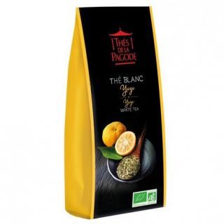Thés de la pagode Thé Blanc Yuzu Bio - 100g