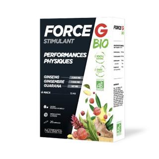 Nutrisanté Force G stimulant Bio performances physiques - 20 ampoules