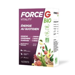 Nutrisanté Force G vitality Bio énergie au quotidien - 20 ampoules