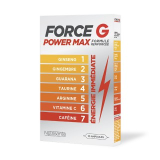 Nutrisanté Force G Power Max formule renforcée - 10 ampoules