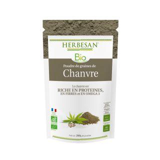 Herbesan poudre de chanvre bio - sachet de 200 g