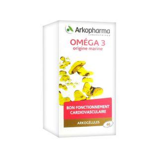 Arkogélules Omega 3 bte 60 Gélules