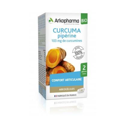Arkogélule curcuma pipérine 130 gélules