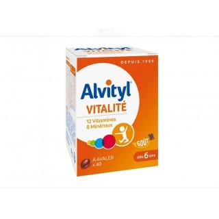Alvityl vitalité dès 6 ans 40 comprimés