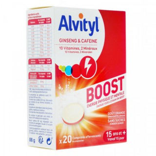 Alvityl boost goût orange 20 comprimés effervescents