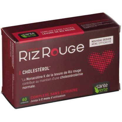 Levure de riz rouge 60 Comprimés Santé verte