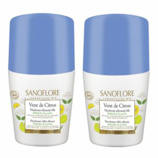 Sanoflore Vent de Citrus Déodorant Roll on 2 x 50 ml