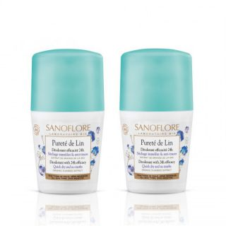 Sanoflore Déodorants pureté de lin lot de 2