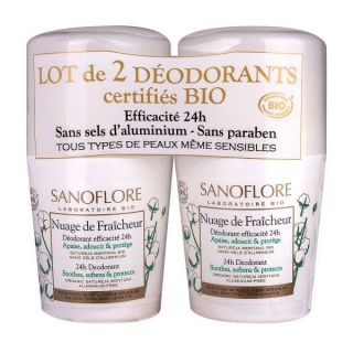 Sanoflore Déodorants roll-on lot de 2 - 50 ml
