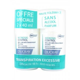 Ducray Hidrosis Control roll-on - Lot de 2 x 40ml