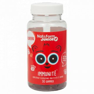Nat&Form Junior + Immunité - 30 oursons fruités