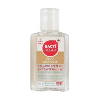 Bactiklear gel sans rinçage mains coconut 30ml