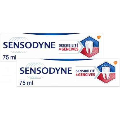 Sensodyne sensibilité et gencives 2x75ml menthe