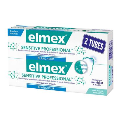 Elmex dentifrice sensitive professional blancheur  - 2 X 75ml
